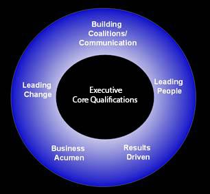 Leading Change, Building Coalitions/Communication, Leading People, Results Driven, Business Acumen, Senior Executive Service Competency Model
